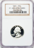 Proof Washington Quarters: , 1963 25C PR68 ★ Ultra Cameo NGC. NGC Census: (288/119). PCGSPopulation (342/113). Numismedi...