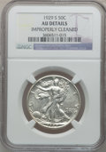 Walking Liberty Half Dollars: , 1929-S 50C -- Improperly Cleaned -- NGC Details. AU. NGC Census:(13/627). PCGS Population (25/834). Mintage: 1,902,000. Nu...