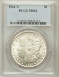 Morgan Dollars: , 1921-S $1 MS64 PCGS. PCGS Population (3403/799). NGC Census:(4931/800). Mintage: 21,695,000. Numismedia Wsl. Price for pro...