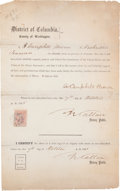Autographs:Military Figures, [Civil War]. Campbell Brown Oath of Allegiance Signed....