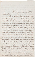 Autographs:Authors, [Reconstruction]. William Lloyd Garrison Autograph Letter Signed....