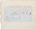 Autographs:U.S. Presidents, Franklin Pierce Clipped Signature and William Taft White House CardSigned....