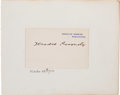 Autographs:U.S. Presidents, Theodore Roosevelt White House Card Signed....