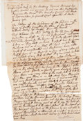 Autographs:Statesmen, [Massachusetts Indians]. Two Colonial Massachusetts Documents,...(Total: 3 Items)