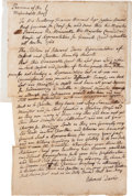 Autographs:Statesmen, [Francis Bernard]. Massachusetts Bay Colonial Petition...