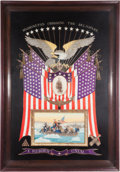 Militaria:Ephemera, Great White Fleet: An Exceptional Japanese-Made Naval SilkworkEmbroidery for the American Market by the George Washington Com...