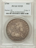 Early Dollars: , 1799 $1 7x6 Stars VF25 PCGS. PCGS Population (299/1635). NGCCensus: (130/1229). Mintage: 423,515. Numismedia Wsl. Price fo...