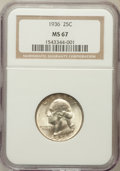 Washington Quarters: , 1936 25C MS67 NGC. NGC Census: (90/1). PCGS Population (60/0).Mintage: 41,303,836. Numismedia Wsl. Price for problem free ...