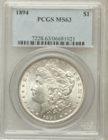 Morgan Dollars: , 1894 $1 MS63 PCGS. PCGS Population (331/267). NGC Census:(213/129). Mintage: 110,972. Numismedia Wsl. Price for problemfr...