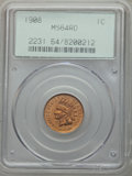 Indian Cents: , 1908 1C MS64 Red PCGS. PCGS Population (395/270). NGC Census:(186/174). Mintage: 32,327,988. Numismedia Wsl. Price for pro...