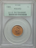 Indian Cents: , 1904 1C MS64 Red PCGS. PCGS Population (294/260). NGC Census:(158/154). Mintage: 61,328,016. Numismedia Wsl. Price for pro...
