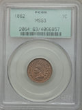 Indian Cents: , 1862 1C MS63 PCGS. PCGS Population (503/901). NGC Census:(284/721). Mintage: 28,075,000. Numismedia Wsl. Price forproblem...