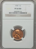 Proof Lincoln Cents: , 1939 1C PR66 Red NGC. NGC Census: (151/28). PCGS Population(288/27). Mintage: 13,520. Numismedia Wsl. Price for problem fr...