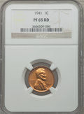 Proof Lincoln Cents: , 1941 1C PR65 Red NGC. PCGS Population (490/105). Mintage: 21,100.Numismedia Wsl. Price for problem free...