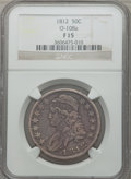 Bust Half Dollars: , 1812 50C Fine 15 NGC. O-108a. NGC Census: (14/774). PCGS Population(21/920). Mintage: 1,628,059. Numismedia Wsl. Price fo...