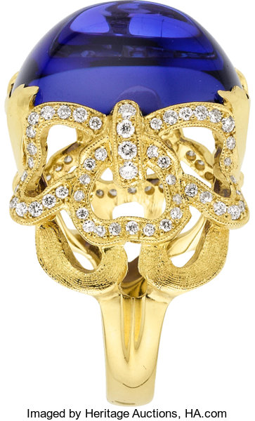mode designer grossiste vente chaude réel Tanzanite, Diamond, Gold Ring, Cynthia Bach. ... Estate ...