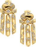 Estate Jewelry:Earrings, Diamond, Gold Earrings, Marina B. ...