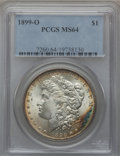 Morgan Dollars: , 1899-O $1 MS64 PCGS. PCGS Population (20956/8470). NGC Census:(23099/8572). Mintage: 12,290,000. Numismedia Wsl. Price for...