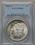Morgan Dollars: , 1885-O $1 MS64 PCGS. PCGS Population (63459/19899). NGC Census:(79797/30959). Mintage: 9,185,000. Numismedia Wsl. Price fo...