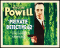 "Movie Posters:Crime, Private Detective 62 (Warner Brothers, 1933). Title Lobby Card (11""X 14"").. ..."