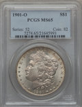 Morgan Dollars: , 1901-O $1 MS65 PCGS. PCGS Population (2647/466). NGC Census:(4592/449). Mintage: 13,320,000. Numismedia Wsl. Price for pro...