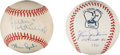 Autographs:Baseballs, Pitching Greats Signed Baseballs Lot Of 2....