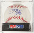 "Autographs:Baseballs, Jim Palmer ""HOF 90"" Single Signed Baseball PSA Mint 9...."