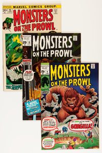 Monsters on the Prowl Group - Savannah pedigree (Marvel, 1971-74) Condition: Average VF+.... (Total: 18 Comic Books)