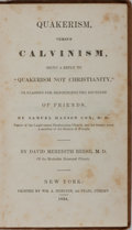 Books:Religion & Theology, David Meredith Reese. Quakerism Versus Calvinism. Mercein, 1834. First edition, first printing. Rubbing and toning t...