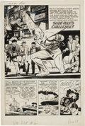 """Original Comic Art:Complete Story, Bob Powell Adventures of the Fly #4 Complete 8-page Story """"Slide Rule's Challenge"""" Original Art (Archie, 1960)...."""