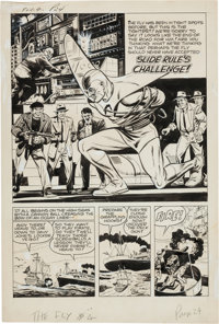 "Bob Powell Adventures of the Fly #4 Complete 8-page Story ""Slide Rule's Challenge"" Original Art (Archie, 1960)..."