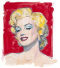 Pin-up and Glamour Art, OLIVIA DE BERARDINIS (American, b. 1948). MM No. 5 (MarilynMonroe), 2012. Watercolor on paper. 14 x 11 in. (image). Sig...