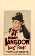 """Movie Posters:Comedy, Long Pants (First National, 1926). Window Card (14"""" X 22"""") &Jumbo Lobby Card (14"""" X 17"""").. ... (Total: 2 Items)"""