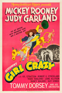 """Girl Crazy (MGM, 1943). One Sheet (27"""" X 41"""") Style C"""