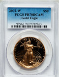 Modern Bullion Coins, 2002-W G$50 One-Ounce Gold Eagle PR70 Deep Cameo PCGS. PCGSPopulation (167). NGC Census: (632). Numismedia Wsl. Price for...