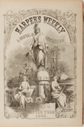 Books:Americana & American History, Harper's Weekly. Bound Volume of Issues from 1865 includingVolume IX. Numbers 419-470. Half leather with rubbing, f...