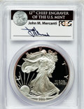 Modern Bullion Coins, 2006-W $1 Silver Eagle PR69 Deep Cameo PCGS. Ex: Signature of JohnM. Mercanti, 12th Chief Engraver of the U.S. Mint. PCGS...