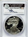 Modern Bullion Coins, 1996-P $1 Silver Eagle PR69 Deep Cameo PCGS. Ex: Signature of JohnM. Mercanti, 12th Chief Engraver of the U.S. Mint. PCGS...
