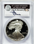 Modern Bullion Coins, 1989-S $1 Silver Eagle PR69 Deep Cameo PCGS. Ex: Signature of JohnM. Mercanti, 12th Chief Engraver of the U.S. Mint. PCGS...