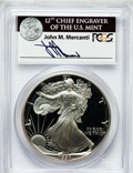 Modern Bullion Coins, 1991-S $1 Silver Eagle PR69 Deep Cameo PCGS. Ex: Signature of JohnM. Mercanti, 12th Chief Engraver of the U.S. Mint. PCGS...