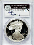 Modern Bullion Coins, 1992-S $1 Silver Eagle PR69 Deep Cameo PCGS. Ex: Signature of JohnM. Mercanti, 12th Chief Engraver of the U.S. Mint. PCGS...