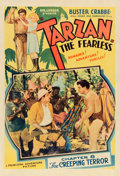 "Movie Posters:Serial, Tarzan the Fearless (Principal Distributing, 1933). One Sheet (27""X 41"") Chapter Eight -- ""The Creeping Terror."". ..."