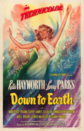"Movie Posters:Musical, Down to Earth (Columbia, 1947). One Sheet (27"" X 41"") Style A.. ..."