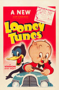"Movie Posters:Animated, Looney Tune Cartoon Stock Poster (Warner Brothers, 1940). One Sheet(27"" X 41"") Joe Glow, the Firefly.. ..."