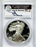 Modern Bullion Coins, 1986-S $1 Silver Eagle PR69 Deep Cameo PCGS. Ex: Signature of JohnM. Mercanti, 12th Chief Engraver of the U.S. Mint. PCGS ...
