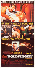 "Movie Posters:James Bond, Goldfinger (United Artists, 1964). Three Sheet (41"" X 79.5"").. ..."