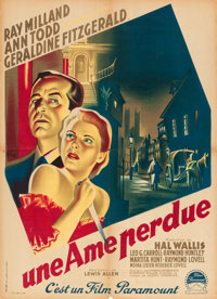 "So Evil My Love (Paramount, 1949). Printer's Proof French Affiche (23.5"" X 31.5"")"