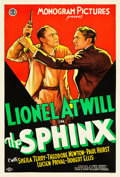 "Movie Posters:Mystery, The Sphinx (Monogram, 1933). One Sheet (27"" X 41"").. ..."