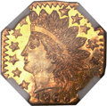 California Fractional Gold, 1868 25C Indian Octagonal 25 Cents, BG-799T, High R.5, MS66Prooflike NGC....