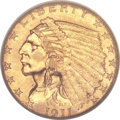 Indian Quarter Eagles, 1911-D $2 1/2 Strong D MS61 PCGS....